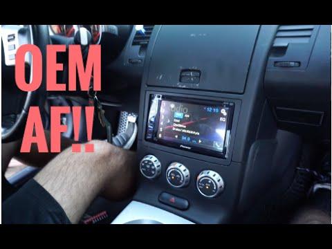 head unit installation on nissan 350z youtube rh youtube com 350Z Navigation GPS Glove Box 350Z Navigation Control Switch