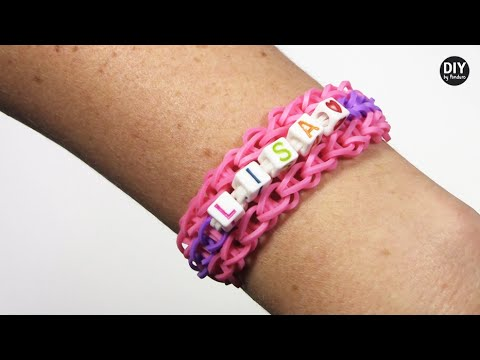 Block Letter Name Bracelets