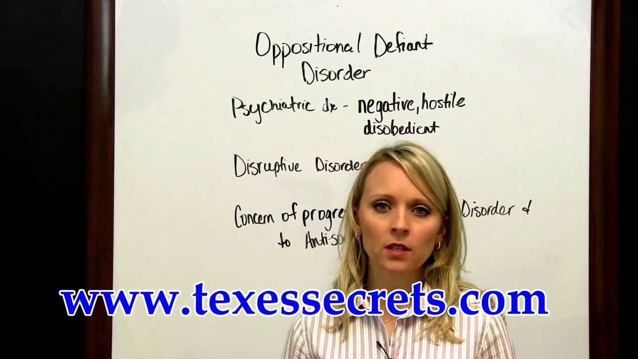 Texes Educational Diagnostician 153 Questions Oppositional