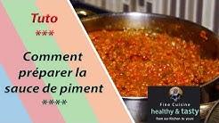 Tuto: Comment préparer la sauce de piment