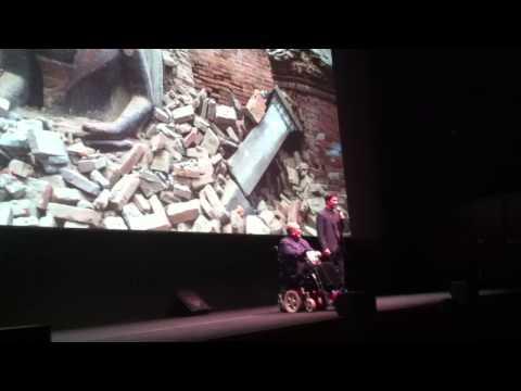 Bernardo Bertolucci and Keanu Reeves solidarity for Nepal in Rome...