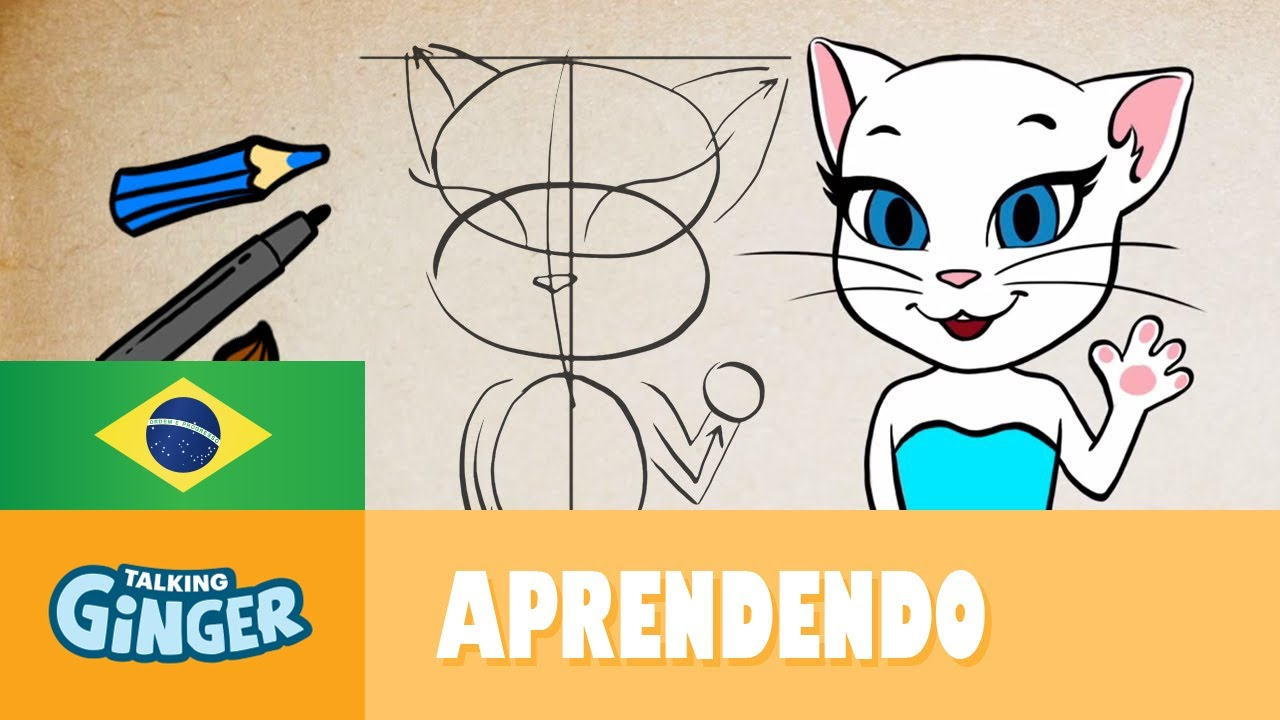 Vamos Desenhar A Talking Angela Desenhomania Do Talking Ginger