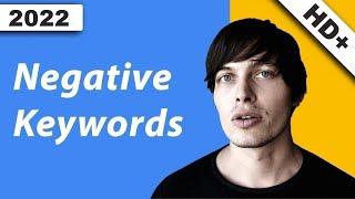 Adwords Negative Keywords + Recherche