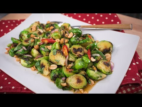 Brussel Sprouts Thai-Style Holiday Side Dish Recipe | Thai Recipes