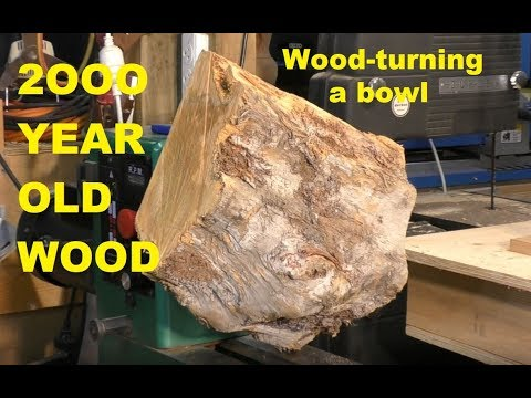287 Wood-turning a spectacular 2000 year old wood into a bowl