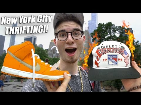 Trip to the Thrift #133 Paul Hits up NYC & NJ and Finds Sneaker and Snapback Heat!