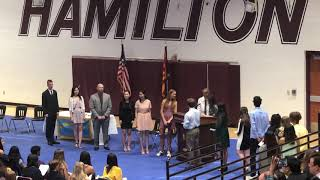 Dylan's National Honor Society Induction