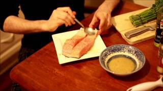 Lemon Garlic Salmon & Vegetables (recipe)