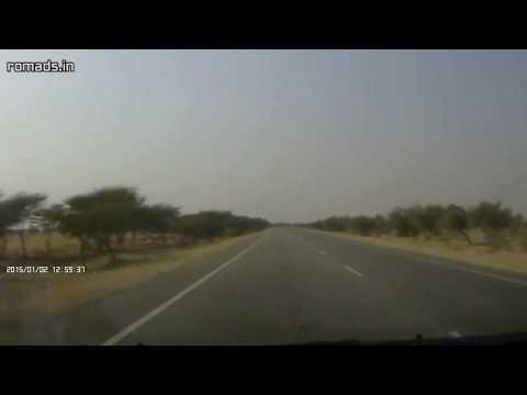 NH-11 (Old NH-15) Phalodi To Pokhran Section Of National Highway (2015-01-02)
