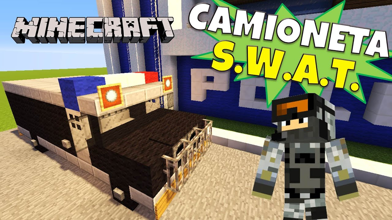 Minecraft camioneta s w a t super tutorial youtube for Casa moderna rey zerch