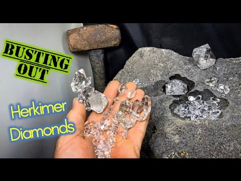 Herkimer Diamond Crystal Mining In New York | Busting Quartz Out Of Rocks!