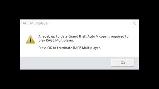 Error Rage Multiplayer A Legal To Date Gta V Copy To Required To