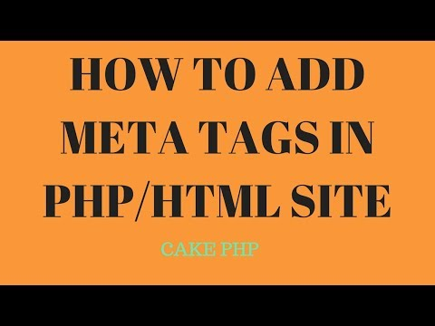 HOW TO ADD META TAGS IN PHP/HTML SITE - Html Meta Keywords | Meta Tag Seo