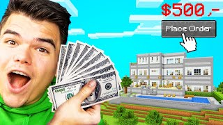 I PAID 3 MINECRAFT BUILDERS $500 To Build My HOUSE! (Who Won?)