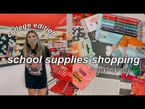 back to school supplies shopping vlog + airpods giveaway 2021