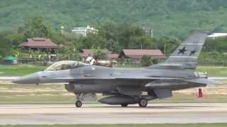 6 F-16 ADF Take off @ Chiang Mai 2013