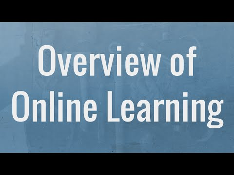 Overview of Online Learning Resources