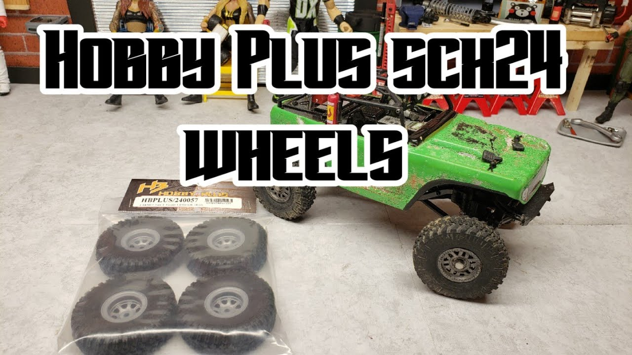 Scx24 wheels and tires from hobby plus
