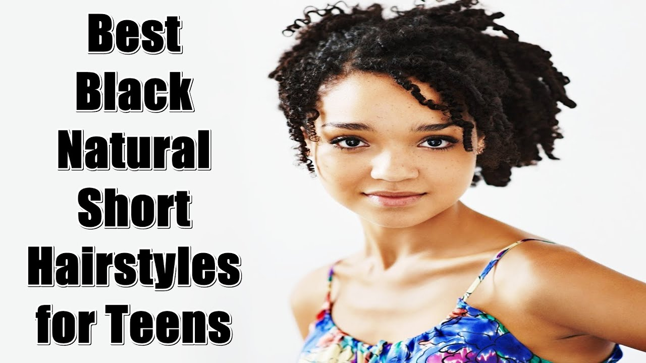 Best Black Natural Short Hairstyles for Teens - YouTube