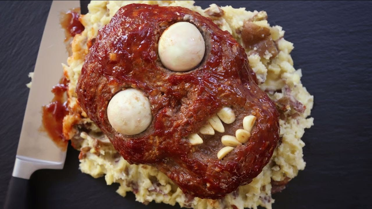 How to make zombie meatloaf halloween recipes allrecipes youtube forumfinder Choice Image