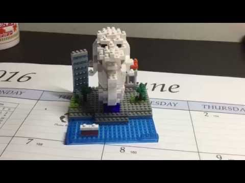nano block Merlion Show-Case and Review