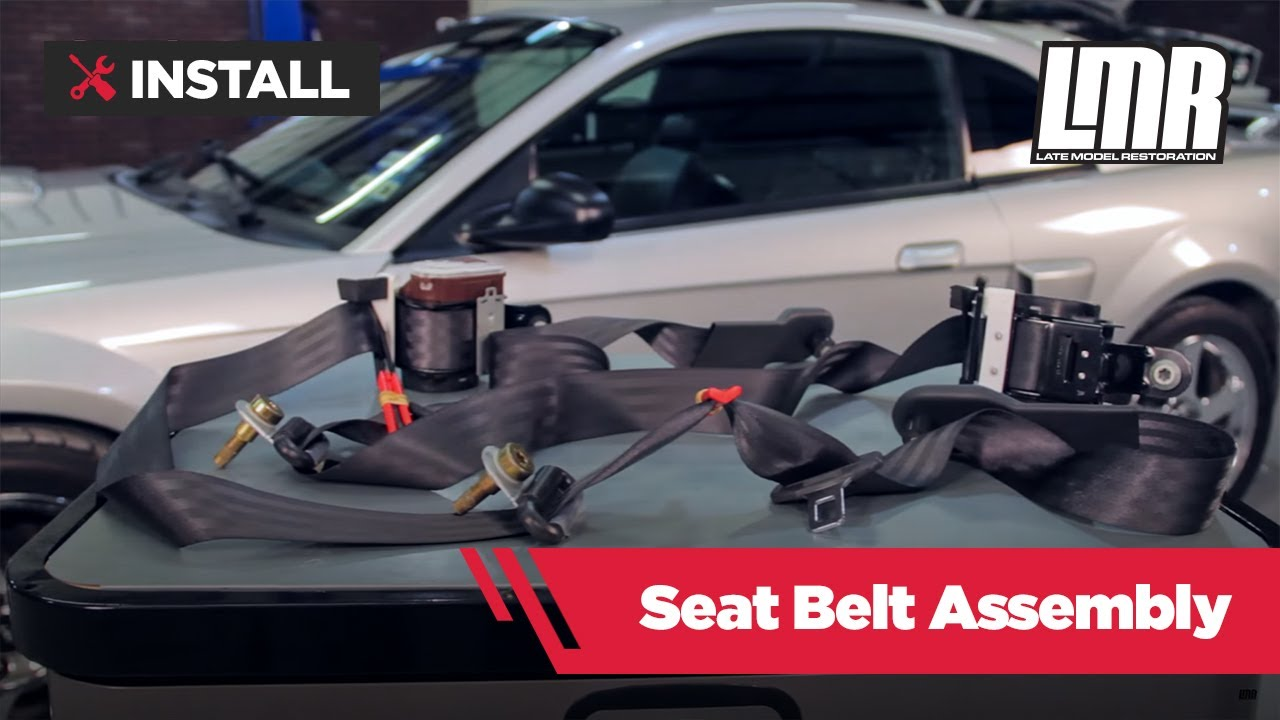 mustang seat belt assembly w/ retractor review & install (01-04 coupe)