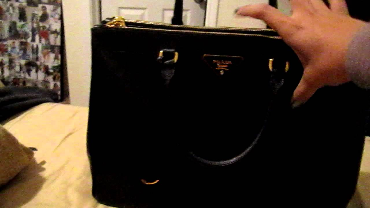 Quick review of Prada Saffiano Double-Zip Tote - YouTube 9ae846681454a