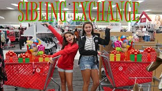 SIBLING CHRISTMAS GIFT EXCHANGE! SHOP WITH ME! EMMA AND ELLIE