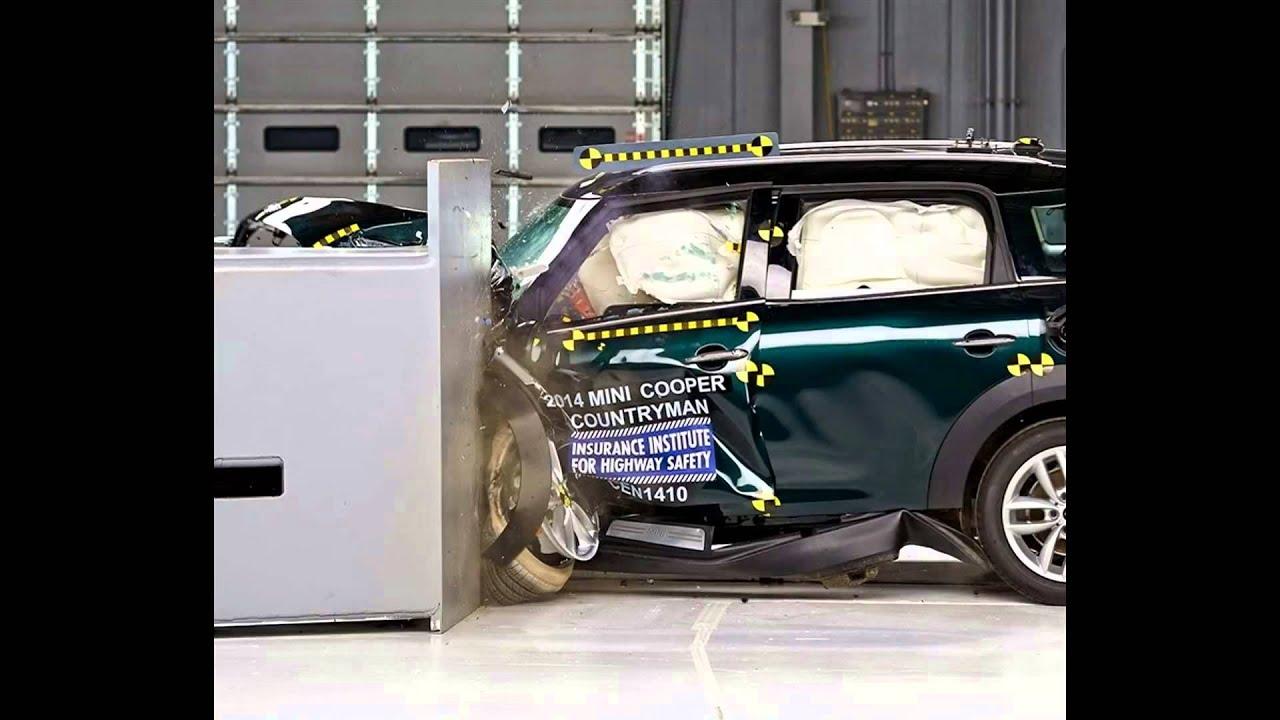 Iihs 2017 Mini Cooper Countryman Small Overlap Crash Test Good Evaluation