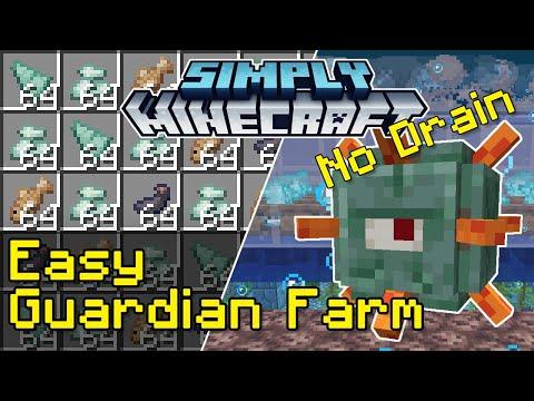 Easy Guardian Farm Tutorial (No Water Removal) | Simply Minecraft (Java Edition 1.17)