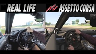 Comparison of Real Life Porsche and Assetto Corsa in Mixed Reality