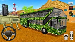 Army Bus Driver 2021 - Real Military Coach Games - Android Gameplay screenshot 4