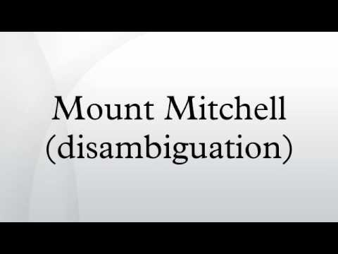 Mount Mitchell (disambiguation)