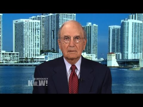 Former Mideast Peace Envoy George Mitchell on U.S.-Israel Showdown over Iran, Palestinian Statehood