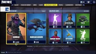 Fortnite the shop of Friday, April 6, 2018 finally the new skin Raven :) ;)