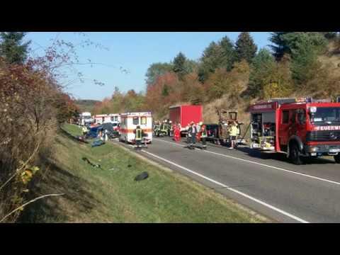 Schwerer Unfall auf der B 51 bei Prüm