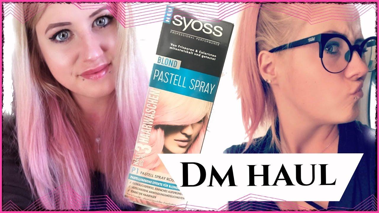 Pink Hair Dm Haul 2017 Syoss Pastell Spray Test Diy Für Blondes Haar Myunique