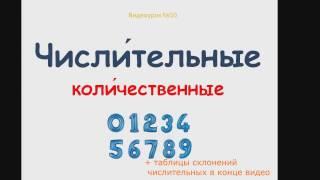 №10.1 Числительные РКИ. Числа и цифры. /Pronouns russian/Zahlwörter/ russian lessons