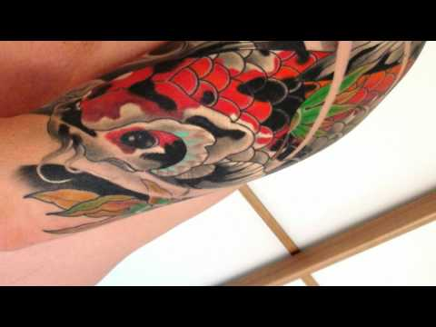 Koi Carp Half Sleeve Tattoo
