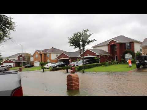 Hurricane Harvey Flooded Houston/Clearlake/Dickinson/League City. (4k Video)
