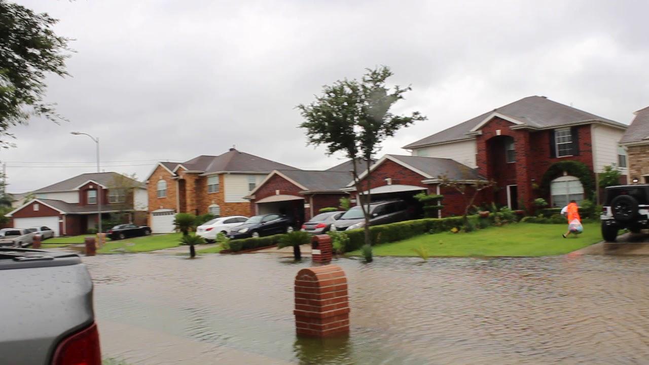 Hurricane Harvey Flooded Houston Clearlake Dickinson Le