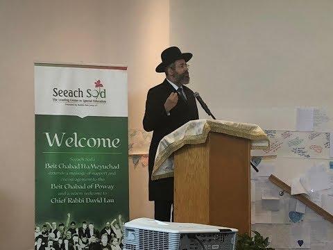 Chief Rabbi Of Israel Visits Chabad Of Poway