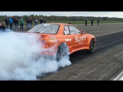Nissan Skyline GTR R32 1500hp SLAPIT Performance Turboscheune Test & Tune 17.04.2016