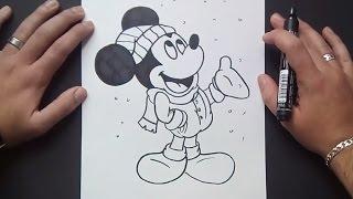 Como dibujar a Mickey Mouse paso a paso 4 - Disney | How to draw Mickey Mouse 4 - Disney