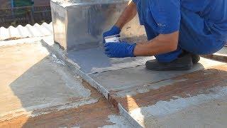 Течёт крыша дома ремонт по старинному.Ремонт крыши своими руками.Как починить крышу в местах течи