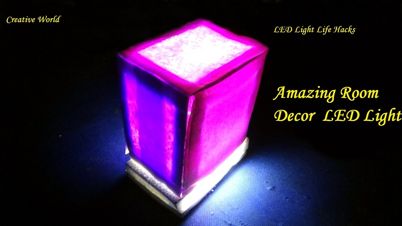 creative led lighting. DIY - How To Make Room Decor LED Light. Creative World Led Lighting L