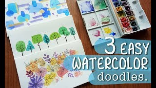 3 doodles to get you started with watercolors