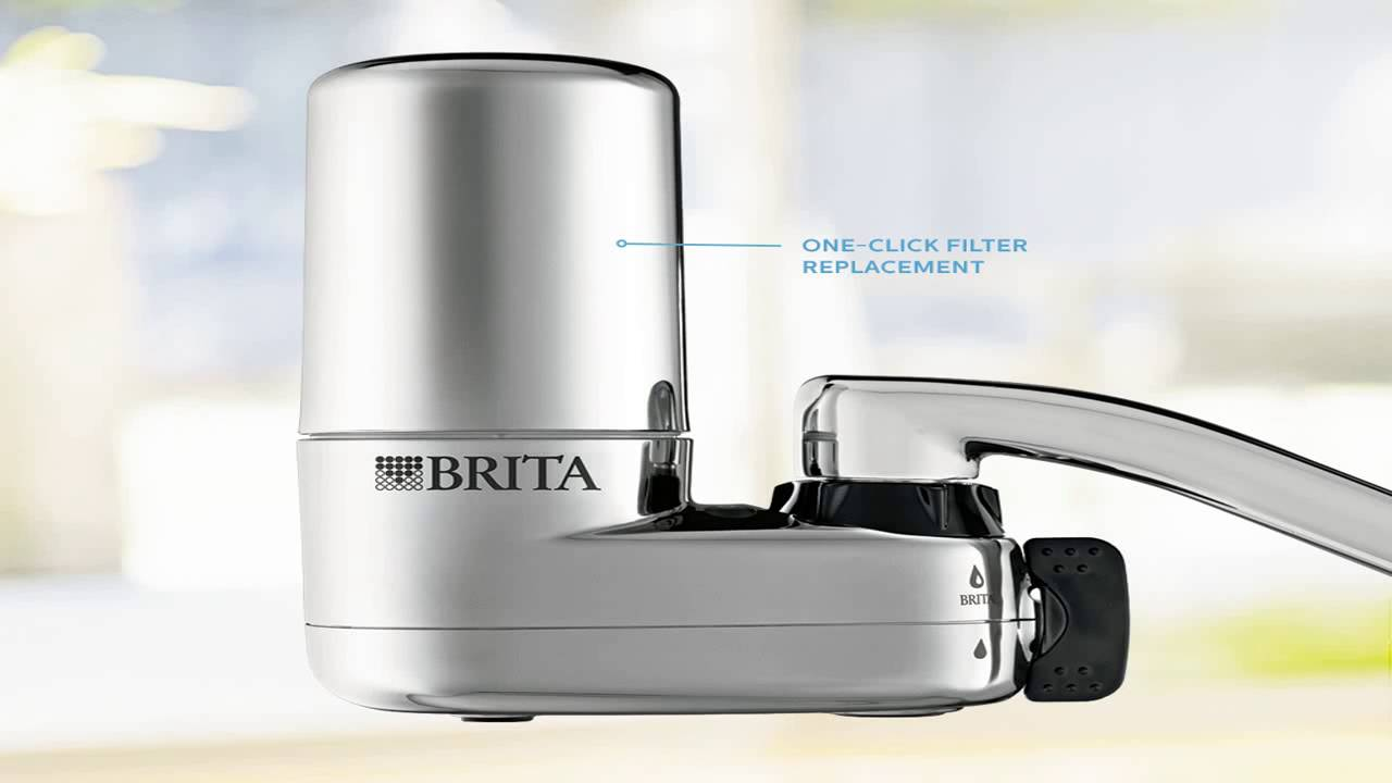 brita on tap faucet water filter system white youtube. Black Bedroom Furniture Sets. Home Design Ideas