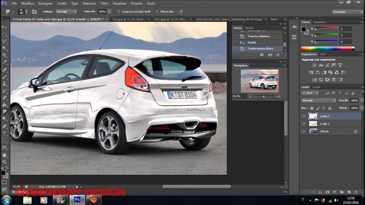 ford fiesta st 2013 back virtual tuning photoshop youtube. Black Bedroom Furniture Sets. Home Design Ideas