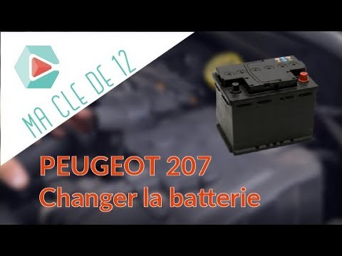 tuto peugeot 207 diesel changer la batterie youtube. Black Bedroom Furniture Sets. Home Design Ideas
